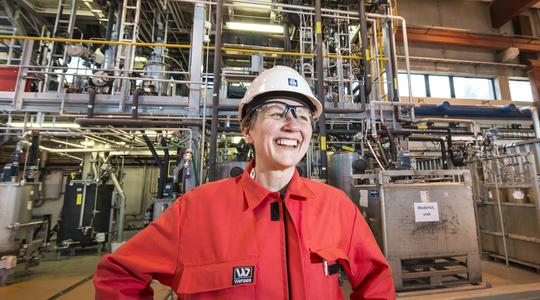 Kari-Anne Leth-Olsen in Porsgrunn plant