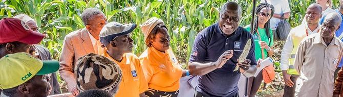 Training for farmers in SAGCOT area Tanzania