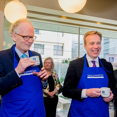 Norwegian Foreign Minister meets Yara Champion Farmers
