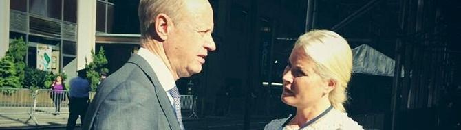 Jørgen Ole Haslestad and HRH Crown Princess Mette-Marit