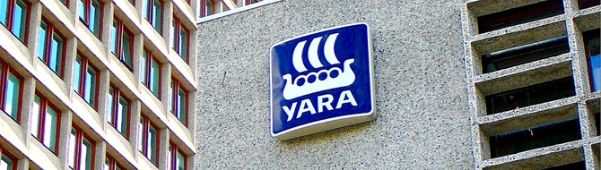 Yara logo at head office