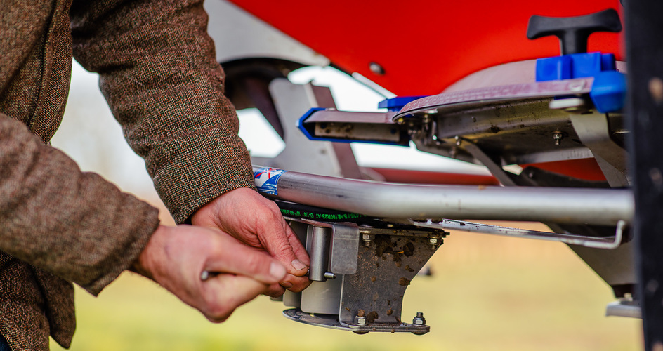 Make sure your spreader is ready and works as it should