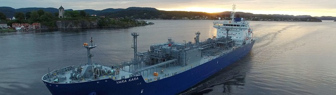 New Yara ammonia ship