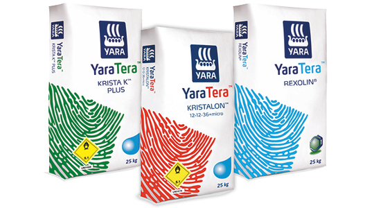 Yara storsäckar på pall