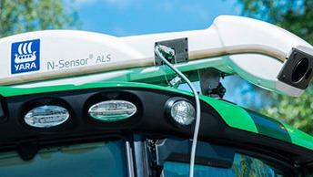 Yara N-Sensor on täsmäviljelytyökalu lannoituksen tarkentamiseen