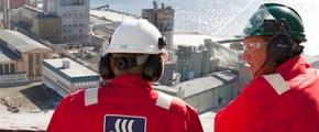 Yara employees at production plant