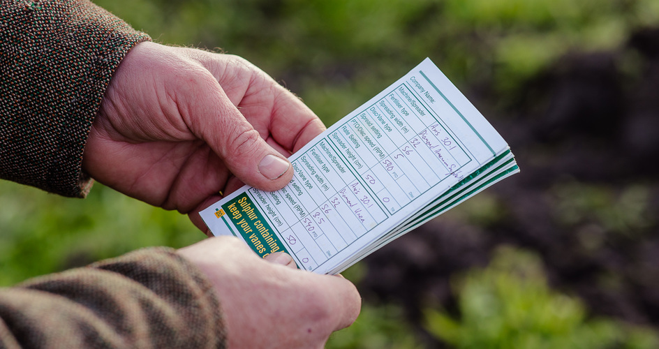The settings are simply put down into a notebook that we always keep in the tractor