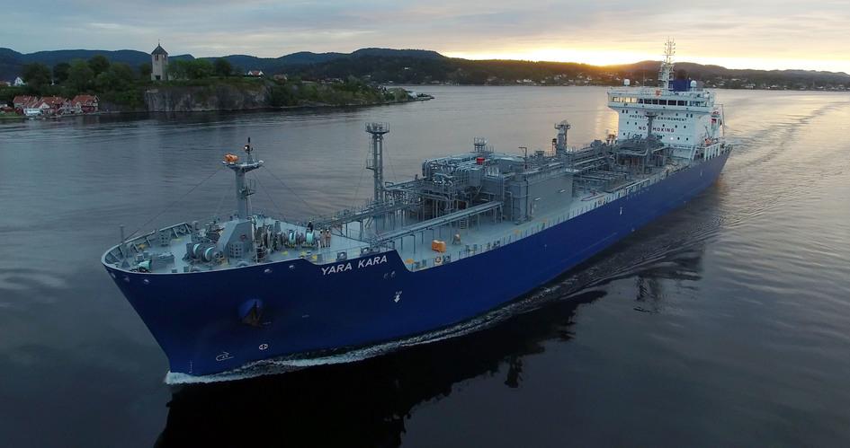 New Yara ammonia ship
