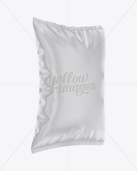 Snack Package Mockup - Halfside View