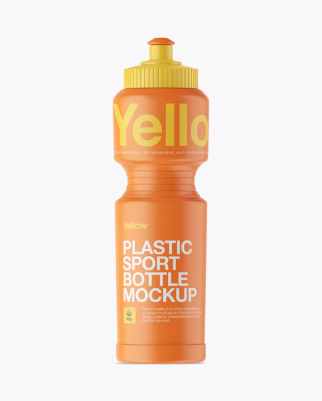 Download Free Matte Sport Bottle Mockup PSD Template