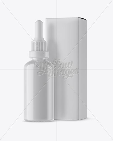 Plastic Dropper Bottle Box Mockup In Bottle Mockups On Yellow