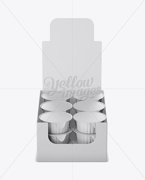 Download Matte Plastic 4 Pack Juice Cup Mockup Front View High Angle Shot PSD - Free PSD Mockup Templates