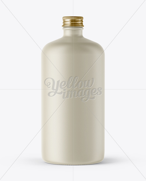 Ceramic Bottle w/ Paper Label Mockup