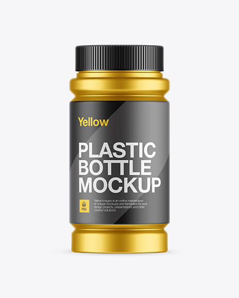 Matte Metalic Pill Bottle Mockup