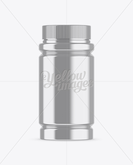 Download Metallic Pills Bottle Mockup In Bottle Mockups On Yellow Images Object Mockups PSD Mockup Templates