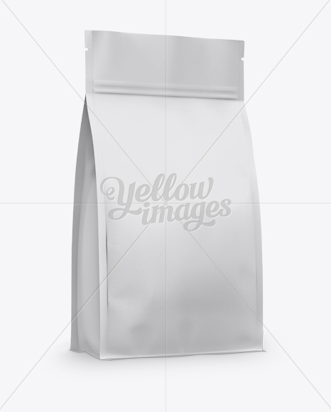 Matte Stand-up Bag with Zipper Mockup - Half Side View