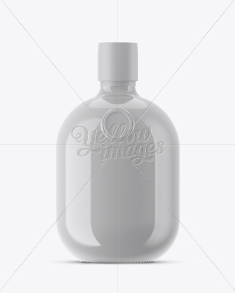Download Glossy Ceramic Bottle With Shrink Band Mockup PSD - Free PSD Mockup Templates