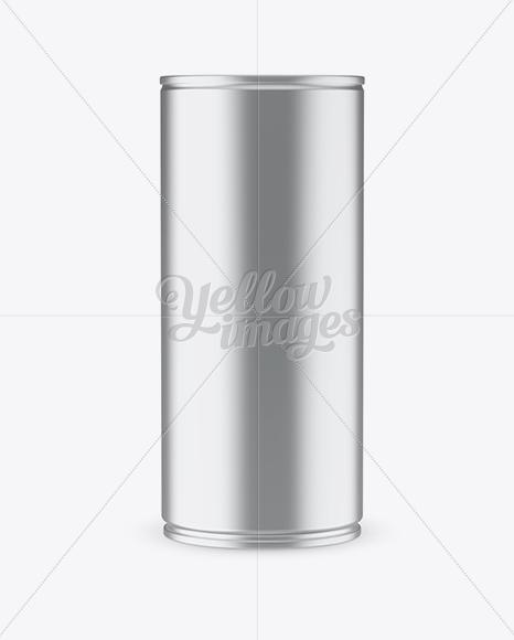 1L Metallic Aluminium Can Mockup