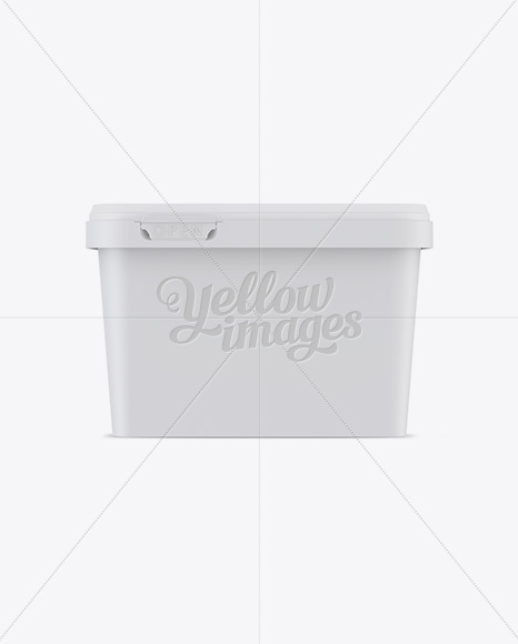 Matte Butter Tub Mockup - Front View