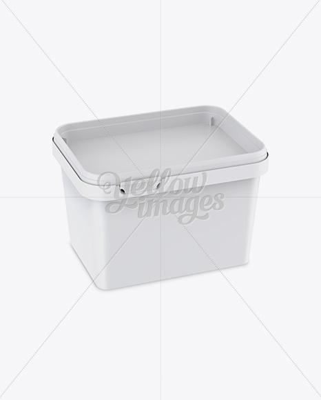 Matte Butter Tub Mockup - Halfside View (High-Angle Shot)