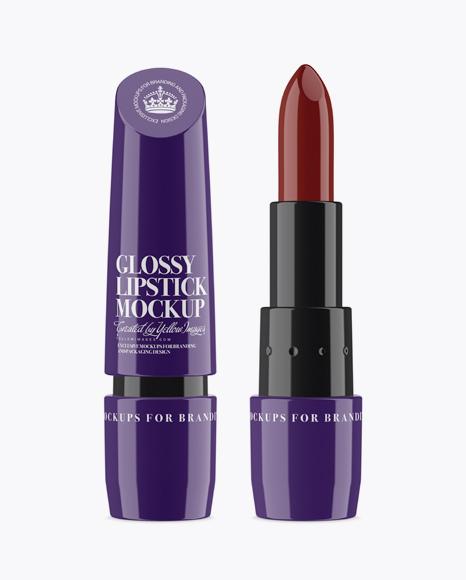 Download Glossy Lipstick Mockup Object Mockups