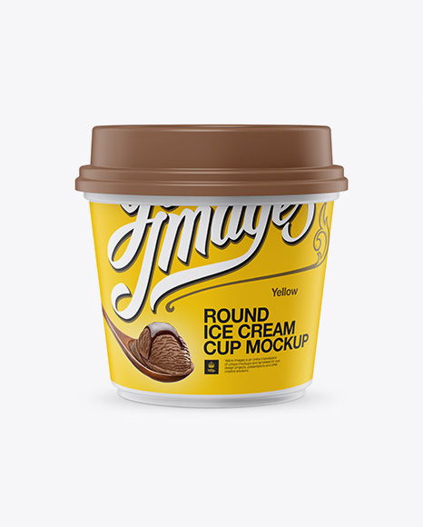 Download Matte Ice Cream Cup Mockup - Front View Object Mockups