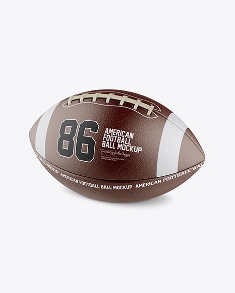 Download American Football Ball Mockup - Halfside View Object Mockups