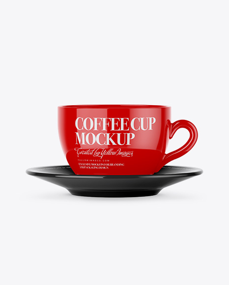 Download Glossy Coffee Cup Mockup - Front View Object Mockups