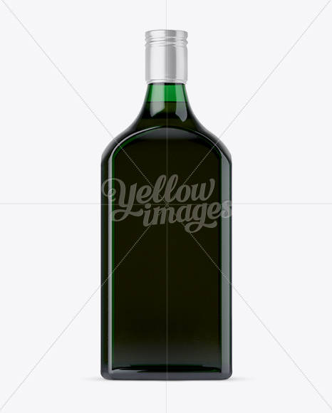 Download Square Green Glass Bottle With Red Liquor Mockup In Bottle Mockups On Yellow Images Object Mockups PSD Mockup Templates