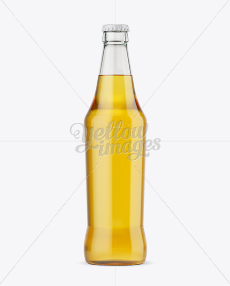 Download 330ml Clear Glass Bottle With Soft Drink Mockup PSD - Free PSD Mockup Templates