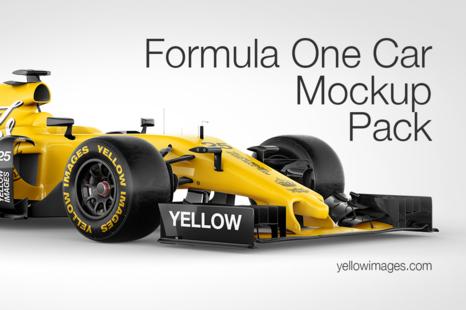 Formula One Car Mockup Pack