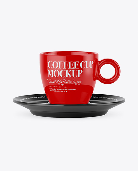 Download Glossy Coffee Cup - High Angle Shot Object Mockups