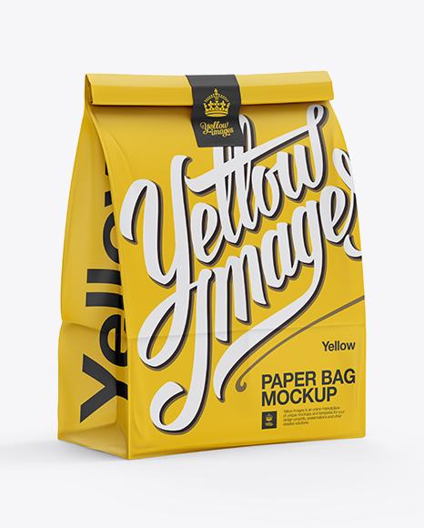 Download Paper Bag Mockup - Halfside View Object Mockups