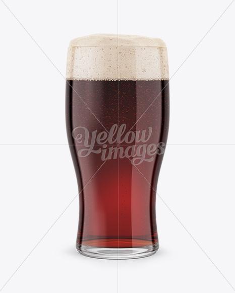 Red Ale Beer Glass Mockup