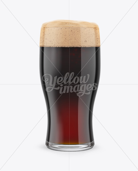 Stout Beer Glass Mockup