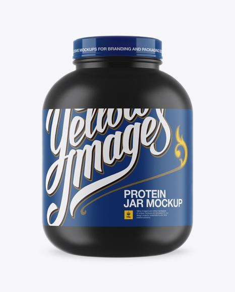 Download Matte Protein Jar Mockup Object Mockups