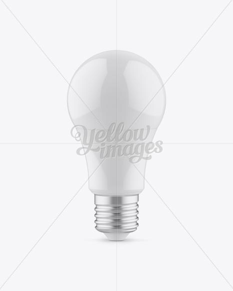Glossy LED Bulb Mockup