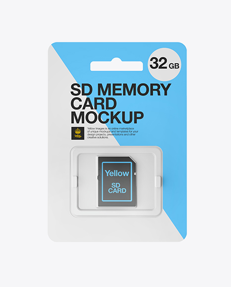 Download SD Memory Card Mockup - Front View Object Mockups