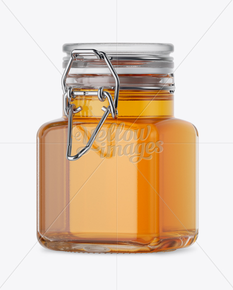 Download 100ml Glass Pure Honey Jar W Clamp Lid Mockup Halfside View In Jar Mockups On Yellow Images Object Mockups Yellowimages Mockups