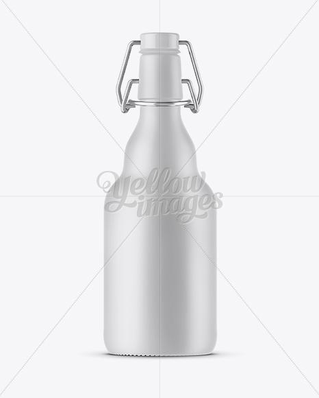 330ml Matte Ceramic Beugel Bottle Mockup