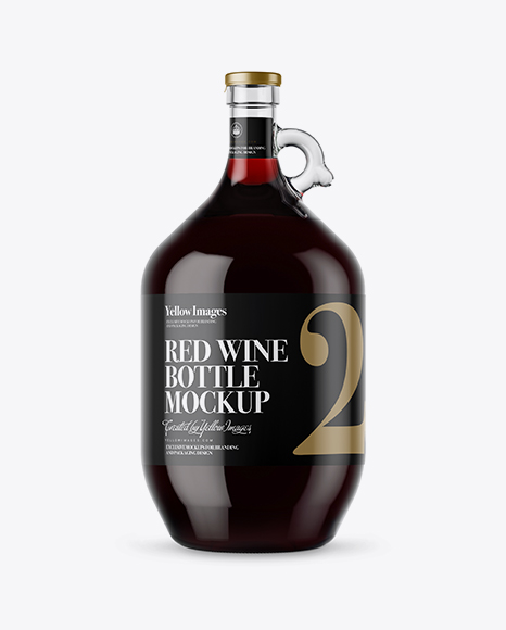Download 3L Clear Glass Red Wine Bottle With Handle Mockup Object Mockups
