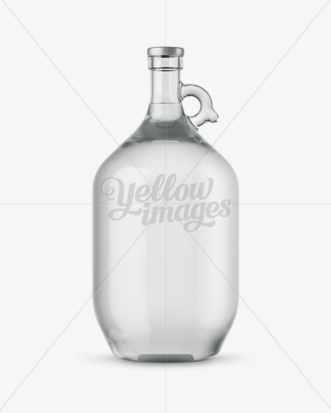 Download 3l Clear Glass Water Bottle With Handle Mockup In Bottle Mockups On Yellow Images Object Mockups PSD Mockup Templates