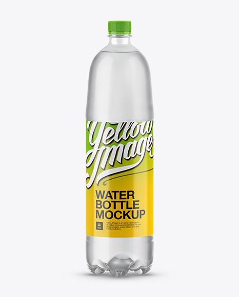 1,5L Clear PET Water Bottle Mockup