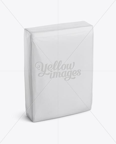 Paper Bag Mockup - Halfside View (High-Angle Shot)