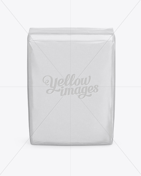 Glossy Paper Bag Mockup - Front View (High-Angle Shot)