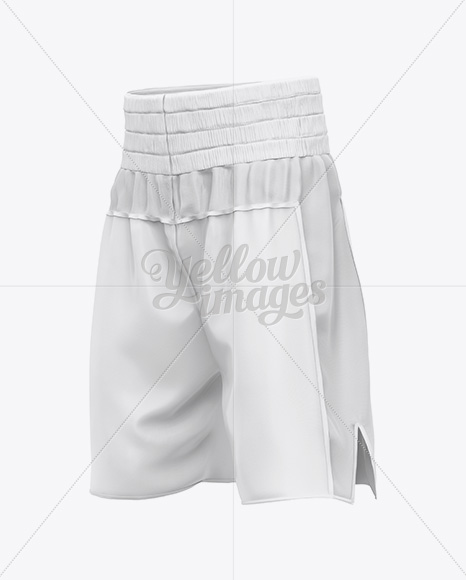Two Panel Boxing Shorts Mockup - Halfside View