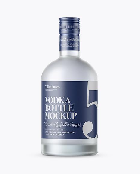 Download Frosted Vodka Bottle with Shrink Band Mockup Object Mockups