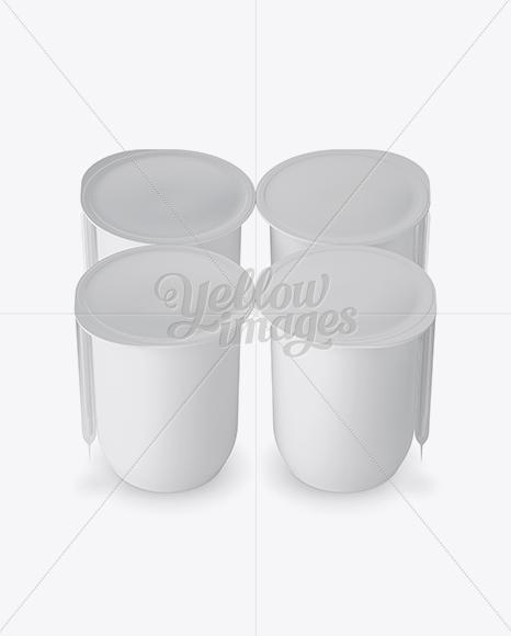 Download 18 Fruit Puree Cups Display Box Mockup Halfside View High Angle Shot PSD - Free PSD Mockup Templates