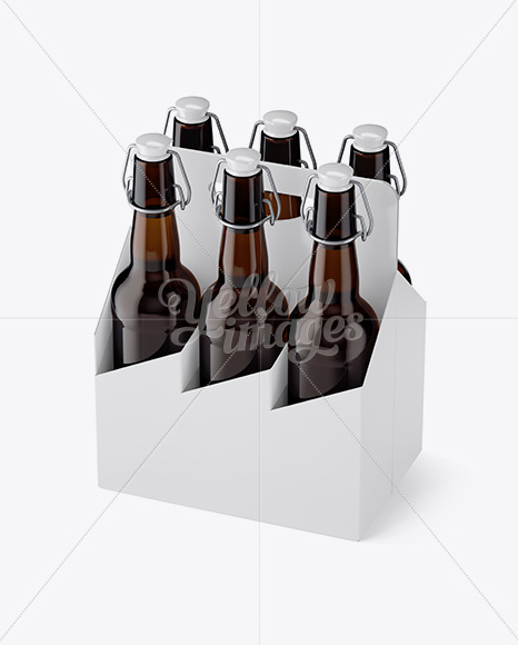 Download 4 Kraft Pack Glossy Dairy Bottle Mockup Halfside View High Angle PSD - Free PSD Mockup Templates