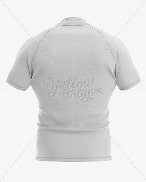 Men's Rugby Jersey Mockup - Back View